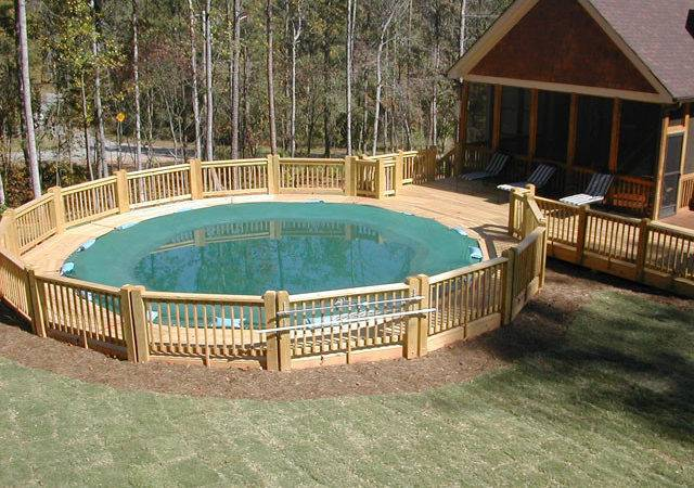 Above Ground Pool Deck Awesome Backyard Swimming Decks