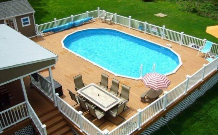 Above Ground Pool Deck Plans Best Pools