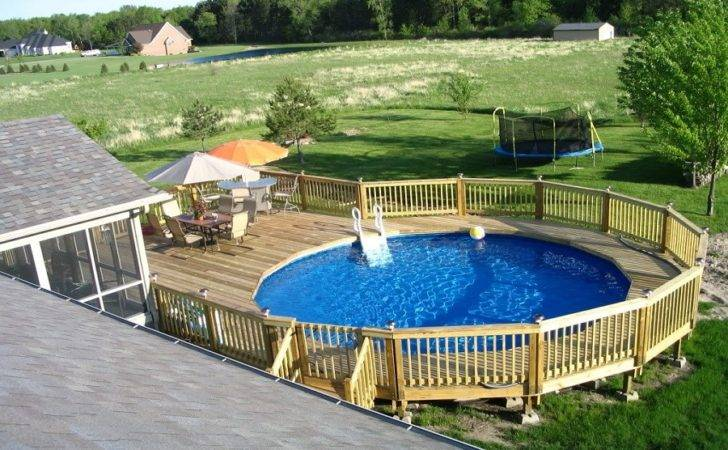 Above Ground Pool Deck Plans Decks Privacy