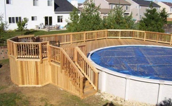 Above Ground Pool Decking Options Deck Wraps Half Way