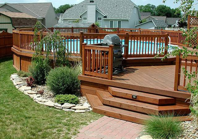 Above Ground Pool Decks Styles Awesome