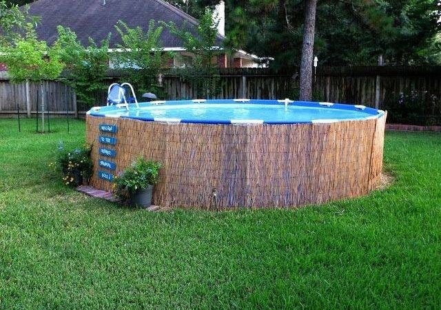 Above Ground Pool Landscape Designs Crafty Crosby Easy Pallet
