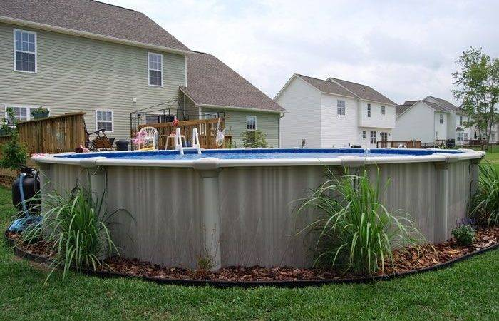 Above Ground Pool Landscaping Crystal Coast Pools