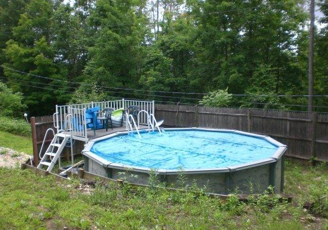 Above Ground Pool Landscaping Ideas Magnificent