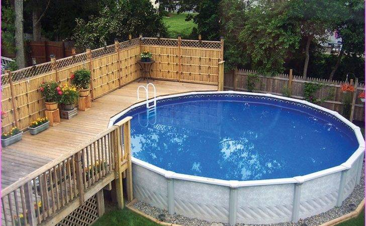 Above Ground Pool Landscaping Ideas Swimming Landscape