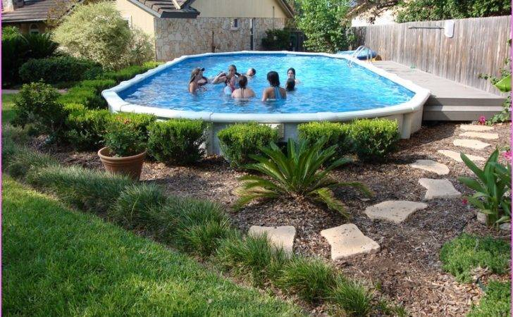 Above Ground Pool Landscaping Landscape Ideas Bee