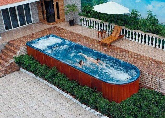 Above Ground Pool Spa Combo Google Search