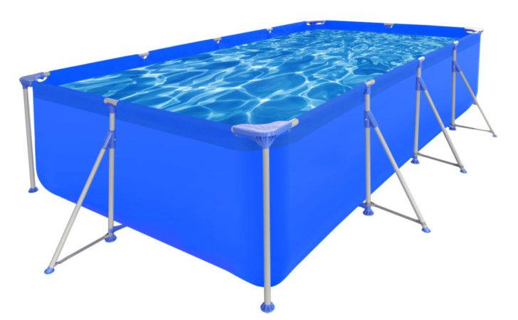 Above Ground Swimming Pool Steel Rectangular