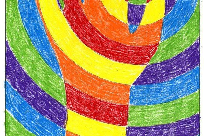 Abstract Art Hands Pre Draw Circles Then Trace