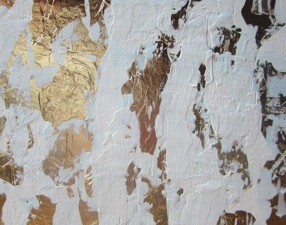 Abstract Gold Leaf Painting All New Colors Desig