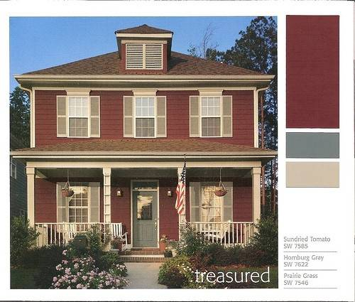 Accent Colors Red Brick House Natural Color