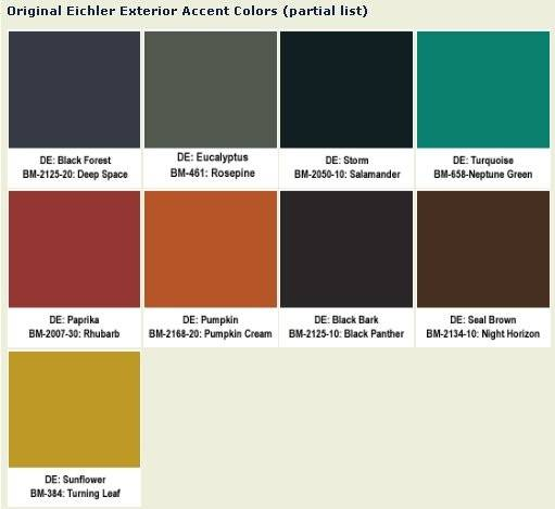 Accent Colors Your Ranch Home Eichler