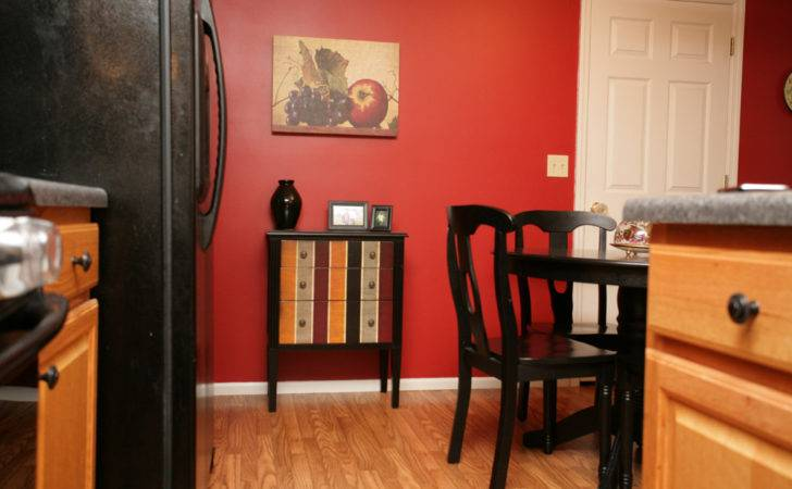 Accent Table Red Kitchen Wall Nest Less