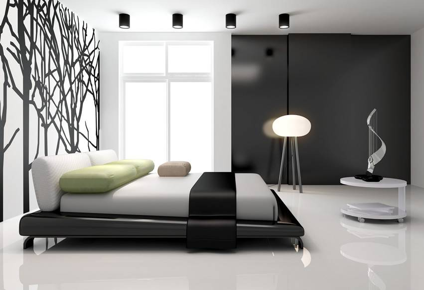 Achromatic Color Scheme Interior Design Modern Master Bedroom
