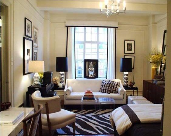 Achromatic Color Scheme Interior Design Used Room