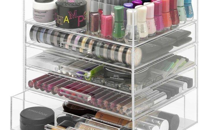 Acrylic Cosmetic Organizer Drawers Small Pin