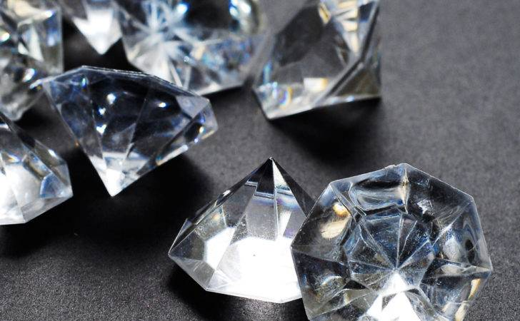 Acrylic Large Flat Diamond Gems Inch Table Scatter