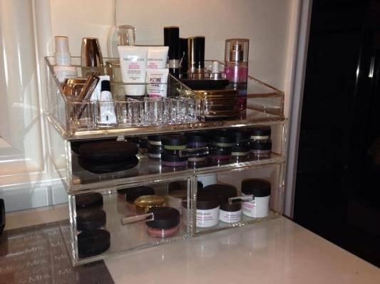 Acrylic Makeup Organizer Container Store Medium