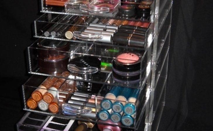 Acrylic Makeup Organizer Cube Drawers Organizers