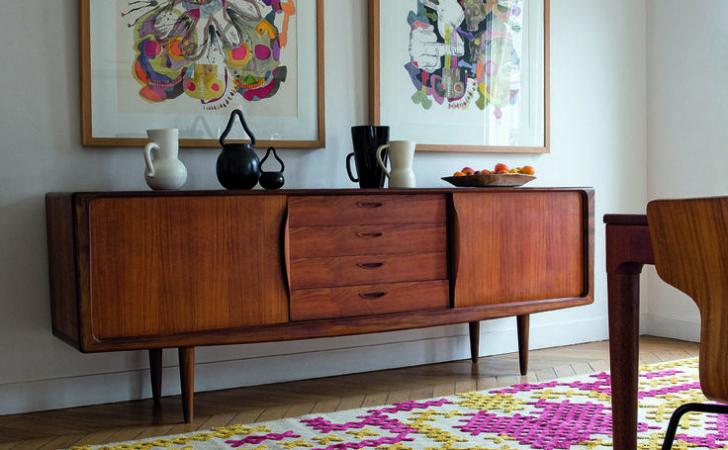 Addition Black Buffet Unique Colorful Furniture