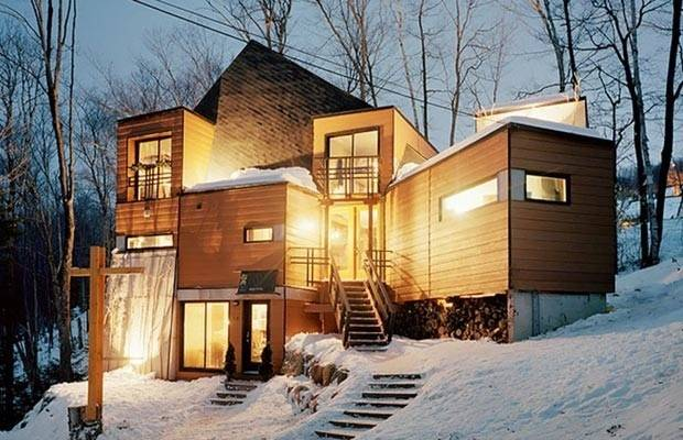 Adorable Snow Fort Quebec Took Seven Shipping Containers Make