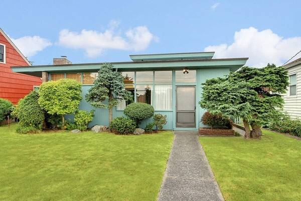 Adorable Turquoise Mid Century Modern House Lot Asian