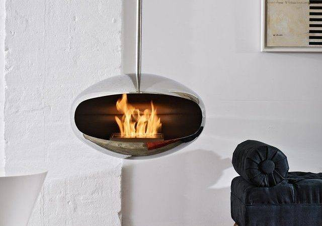 Aeris Hanging Fireplace Cocoon Fires Home Design Pinterest