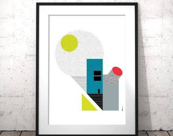 Affiches Modernes Cubicle Wall Decor Nordic