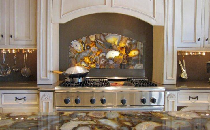 Agate Stone Kitchen Backsplash Countertop