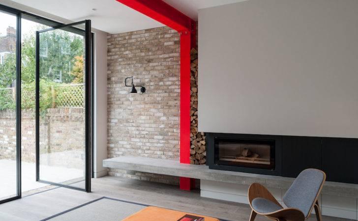 Agrandissement Maison Moderne Salon Avec Porte Pivot Vitre Vers
