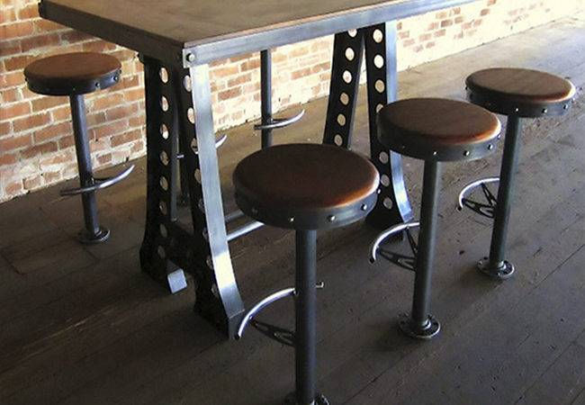 Aias Frame Dining Table Vintage Industrial Base