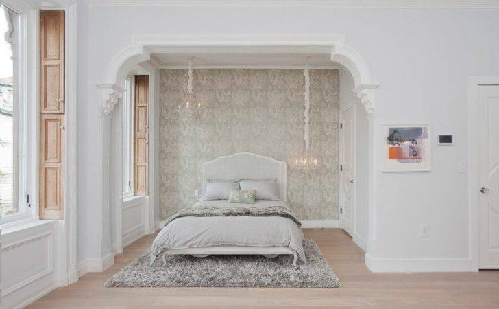 Alcove Decorating Ideas Bedroom Transitional Bed