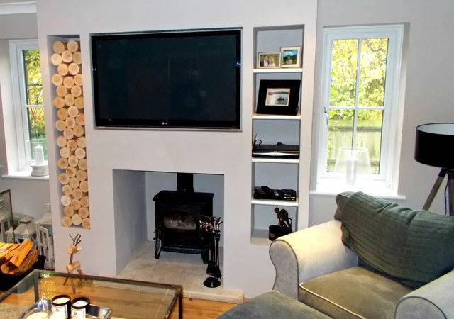 Alcove Space Chimney Breast Modern Living Room