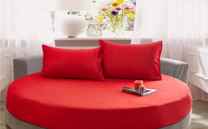 Aliexpress Buy Cotton Round Bed Sheets Set Pcs