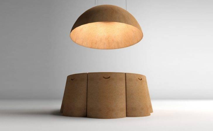 All Natural Ayers Cork Furniture Lighting Set Gessato Blog