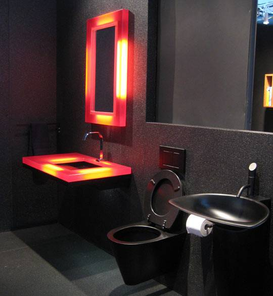 Almost Pure Black Bathroom Design Ideas Digsdigs