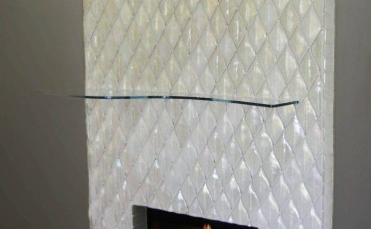 Alpentile Contemporary Glass Tile Fireplace Installation Home