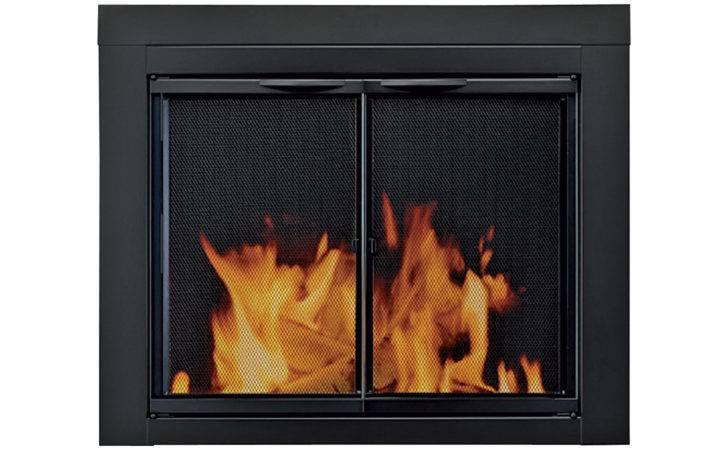 Alpine Fireplace Glass Door Masonry Fireplaces Small Black