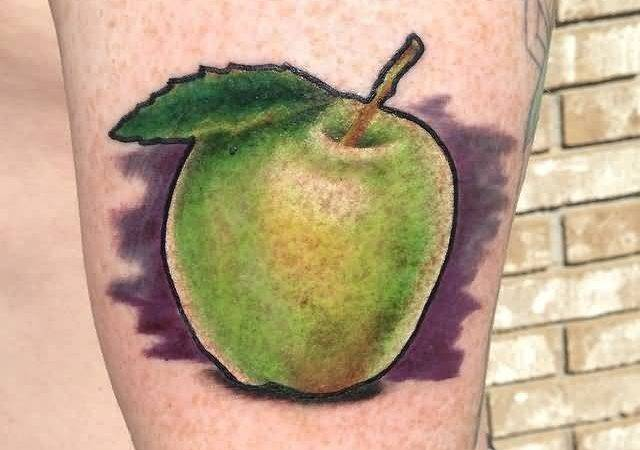 Amazing Green Apple Tattoos Best Body Art Designs Golfian