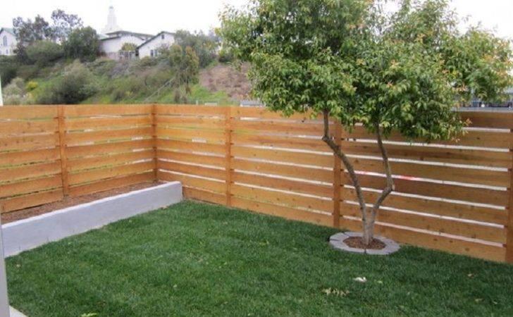 Amazing Horizontal Wood Fence Cedar
