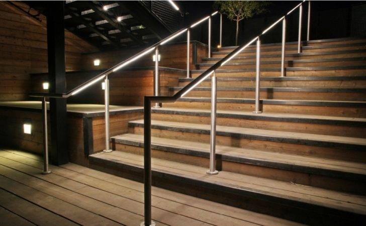 Amazing Stair Handrail Lighting Ideas