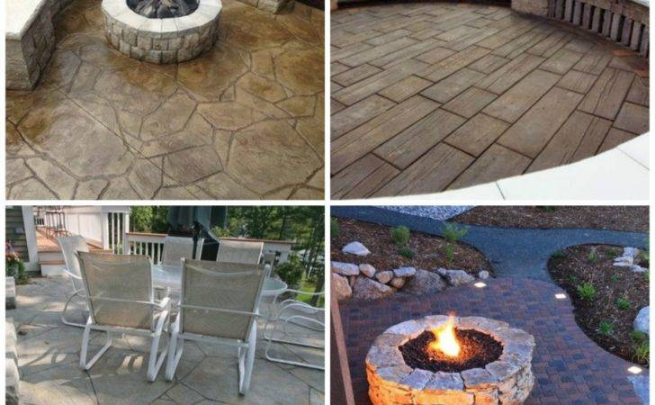 Amazing Stamped Concrete Patio Design Ideas