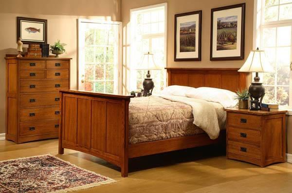 American Craftsman Design King Panel Bedroom Set