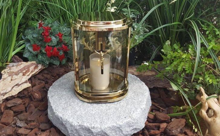 Angel Grave Lantern Lamp Solid Granit Light Ornaments New Ebay