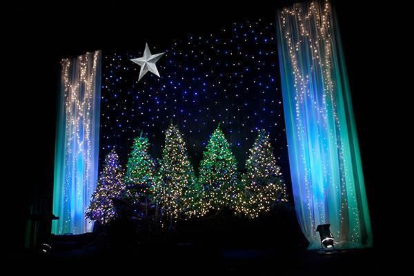 Angela Yee Christmas Stage Design