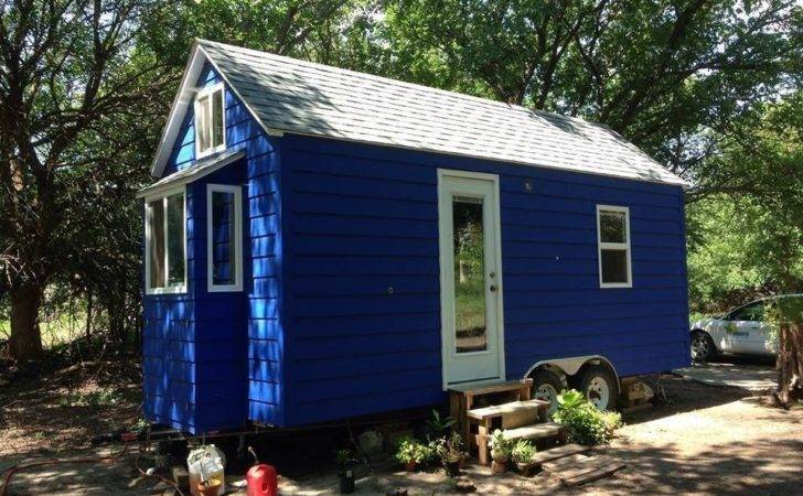 Another Diy Tiny Home Wheels Blue House