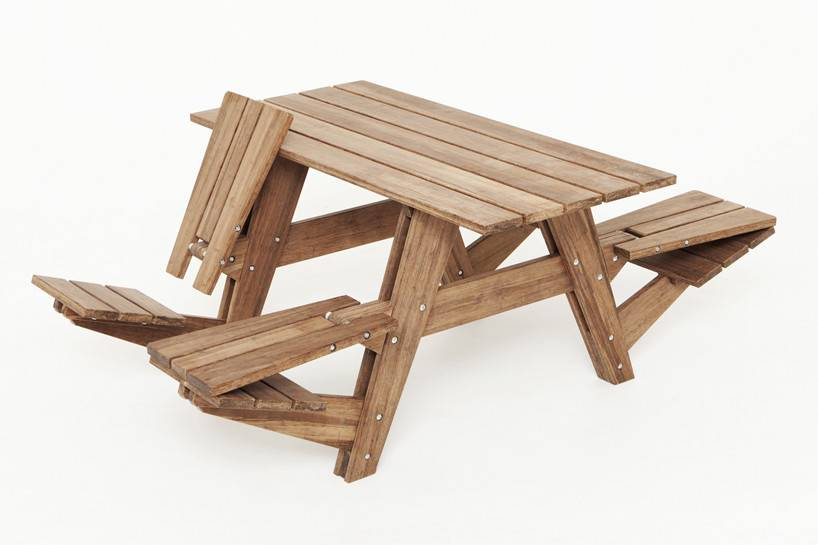 Another Picnic Table Seats Can Convert Into Recliners