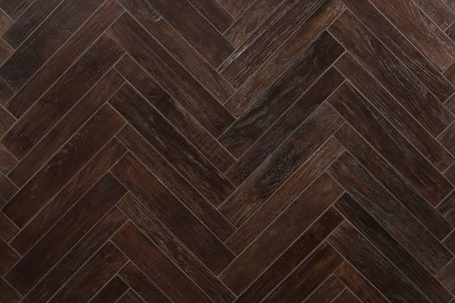 Anteak Small Herringbone Coffee Asian Wall Floor Tile