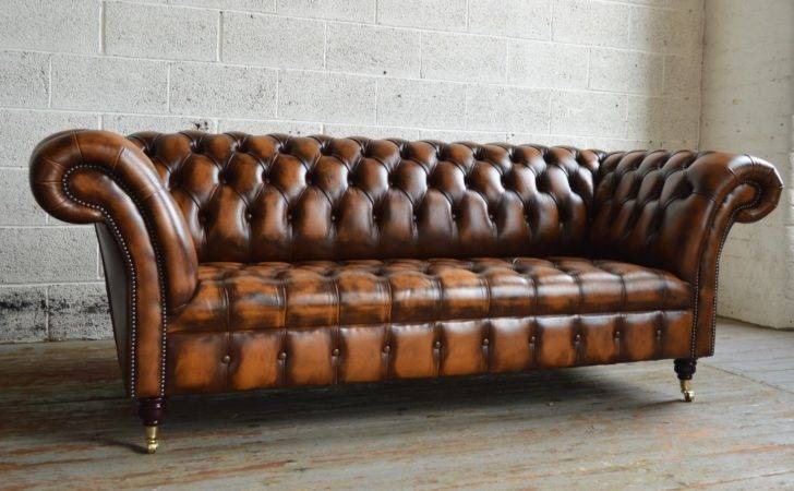 Antique Belmont Leather Chesterfield Sofa Abode Sofas