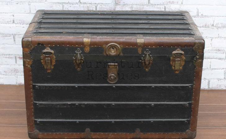 Antique Black Steamer Trunk Furniture Rescues
